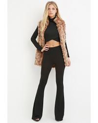 Forever 21 - Brown Contemporary Faux Fur Longline Vest - Lyst