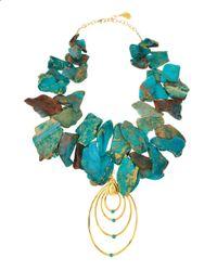 Devon Leigh - Blue African Opal Necklace - Lyst