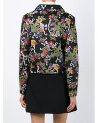 Vivetta - Black Printed Cropped Jacket - Lyst