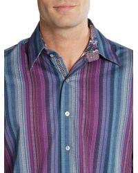 Robert Graham - Multicolor Tailored-fit Reservoir Striped Cotton Sportshirt for Men - Lyst