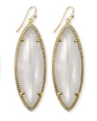 Kendra Scott | Yellow Jessa Marquise Earrings Crystal | Lyst