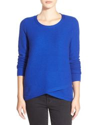 Madewell | Blue 'feature' Pullover Sweater | Lyst
