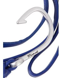 Miansai - Blue Hook Leather Wrap Bracelet for Men - Lyst