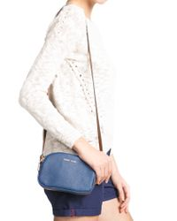 Mango - Blue Double Compartment Mini Bag - Lyst