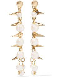 Rosantica - White Contrasti Gold-tone Pearl Earrings - Lyst