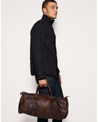 ASOS Collection - Brown Asos Leather Look Barrel Bag for Men - Lyst