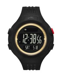 Adidas Originals | Black 'questra Xl' Rubber Strap Watch for Men | Lyst