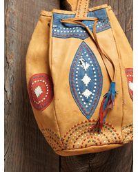 Free People - Orange Vintage Handmade Leather Bag - Lyst