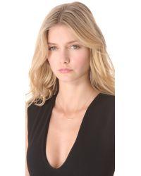 Jennifer Zeuner - Pink Chelsea Mini Bar Necklace With Diamond - Lyst