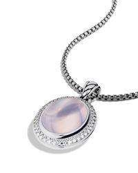 David Yurman - Metallic Oval Pendant with Lavender Moon Quartz - Lyst