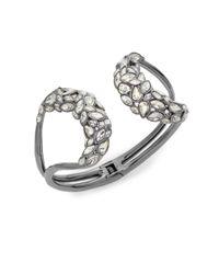 Alexis Bittar | Metallic Swarovski Crystal Mirrored Brake Hinge Bracelet/gunmetal-tone | Lyst