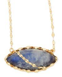 Lana Jewelry - Blue 14k Mesmerize Marquise Onyx/moonstone Necklace - Lyst