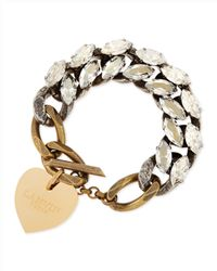 Lanvin | Metallic Susan Crystal And Chain Bracelet | Lyst