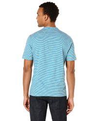 Perry Ellis | Blue Space Dye Stripe T-shirt for Men | Lyst