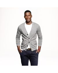 J.Crew | Gray Cotton Cardigan Sweater for Men | Lyst