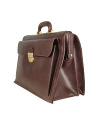 FORZIERI - Brown Italian Leather Buckled Large Doctor Bag for Men - Lyst