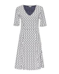 Great Plains | Blue Daisy Jacquard Skater Dress | Lyst