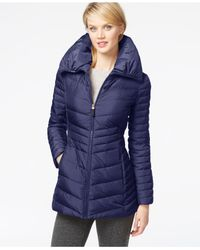 Marc New York | Purple Pillow-collar Down Puffer Coat | Lyst