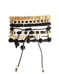 ASOS - Black Leather Bracelet Pack for Men - Lyst