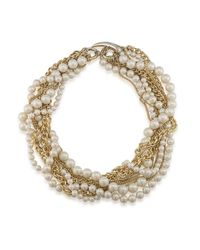 Carolee - Metallic Picnic Pearls Torsade Goldtone Chain And Pearl Necklace - Lyst