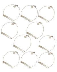 Coordinates Collection - Blue Silvertone Nile Pendant Bracelet - Lyst