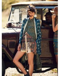 Free People - Blue Sammy Raw Edge Kimono - Lyst