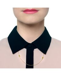 Lulu Frost | Metallic Code 18kt Palm Necklace | Lyst