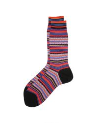 Ayamé | Black Multicolor Stripy Socks for Men | Lyst