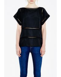 M.i.h Jeans | Black Insert Top | Lyst