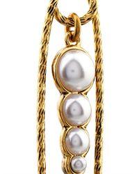 Lulu Frost | Metallic Kinship Pearl And Pin Earrings | Lyst