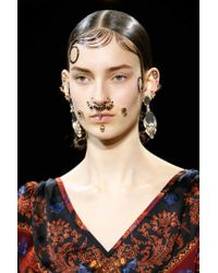 Givenchy | Metallic Crystal-embellished Nose Ring | Lyst