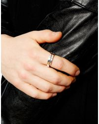 Seven London - Metallic Seven Sterling Silver Band Ring Exclusive To Asos for Men - Lyst