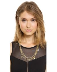Marc By Marc Jacobs - Metallic Looped Multi Chain Necklace Oro - Lyst