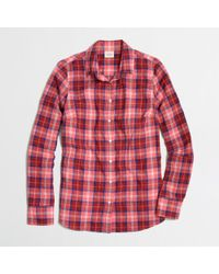 J.Crew - Factory Classic Buttondown Shirt in Suckered Plaid - Lyst