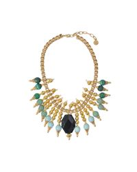 Ela Stone | Green Michelle Collar Necklace | Lyst