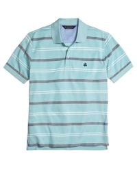 Brooks Brothers - Blue Original Fit Uneven Bar Stripe Polo Shirt for Men - Lyst