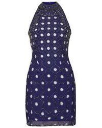 TOPSHOP | Blue Priscilla Embellished Dress By Tfnc | Lyst