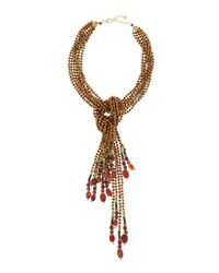 Nakamol - Red Copper Mix Lariat Necklace - Lyst