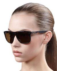 Ray-Ban | Black Oversize Polarized Wayfarer Sunglasses | Lyst