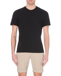 James Perse | Black Crew-neck Cotton-jersey T-shirt for Men | Lyst