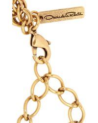 Oscar de la Renta - Red Gold-Tone Crystal Necklace - Lyst