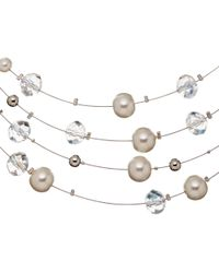 John Lewis - Metallic Faux Pearl And Bead Illusion Necklace - Lyst