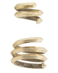 House of Harlow 1960 | Metallic Caral Culture Ring Set | Lyst