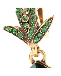 Oscar de la Renta | Green Crystal-embellished Clip-on Earrings | Lyst