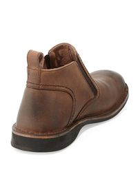 Andrew Marc - Brown Eugene Leather Ankle Boot for Men - Lyst
