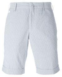 Incotex | Blue Striped Shorts for Men | Lyst
