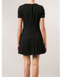 Alexander McQueen - Black Pleated Skirt Dress - Lyst