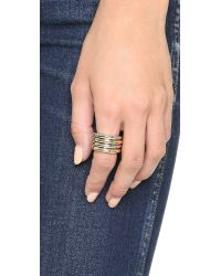 Sam Edelman - Multicolor 4 Band Ring Set - Two Tone - Lyst
