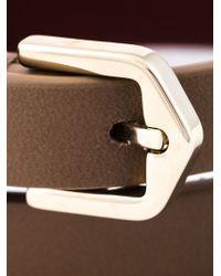 Tod's - Brown Metal Pin Wrap Bracelet - Lyst