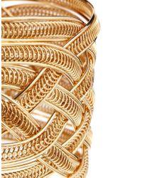 ALDO | Metallic Plaited Wire Gold Cuff Bracelet | Lyst